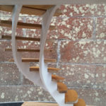 View of the model stairs from under the landing which will be the main view from the lounge