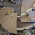 I used mdf templates which I also used as gigs for the oak treads