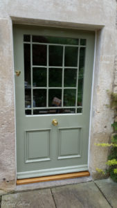 Glazed and panelled back door to a period house
