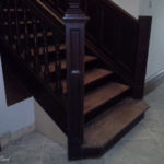 Oak stair case needing refurbishment