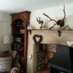 Oak alcove cupboard and mantle shelf gc_