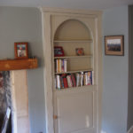 arched bookcase hidden door in mdf