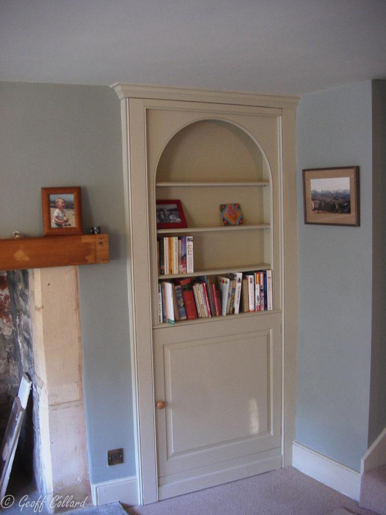 Arched Bookcase Hidden Door In Mdf Geoff Collard Furniture
