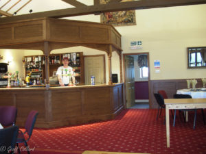 oak bar to match vestibule