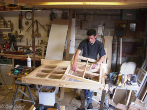 Chris Porter my old apprentice making a very fine window