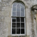 Arch window waiting for restoration