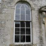 Arch window waiting for restoration