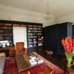 black painted tulipwood and mdf bookcase gc_