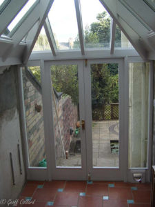 conservatory open to kitchen a