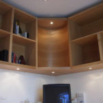 curved oak corner unit