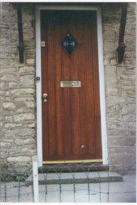diamond window cottage door