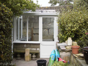 lean to hardwood greenhouse