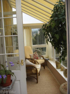 narrow conservatory inside
