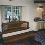 oak window seat long