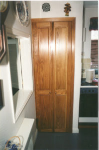 pair of oak doors