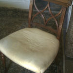 repair of smashed chair back bars