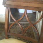repair of smashed chair back bars 2