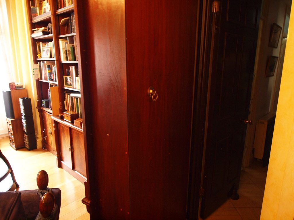 Hidden bookcase door open