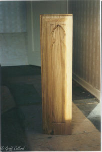 solid oak bookcase in style of pews end