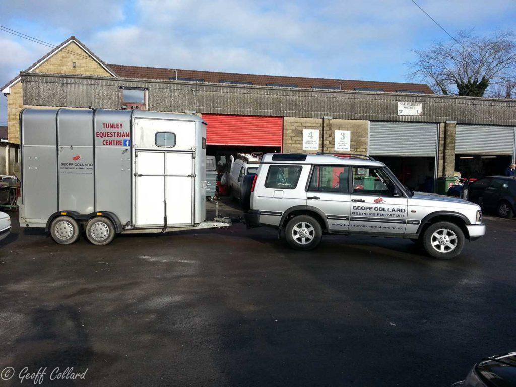 Land Rover & Trailer for delivering the furniture
