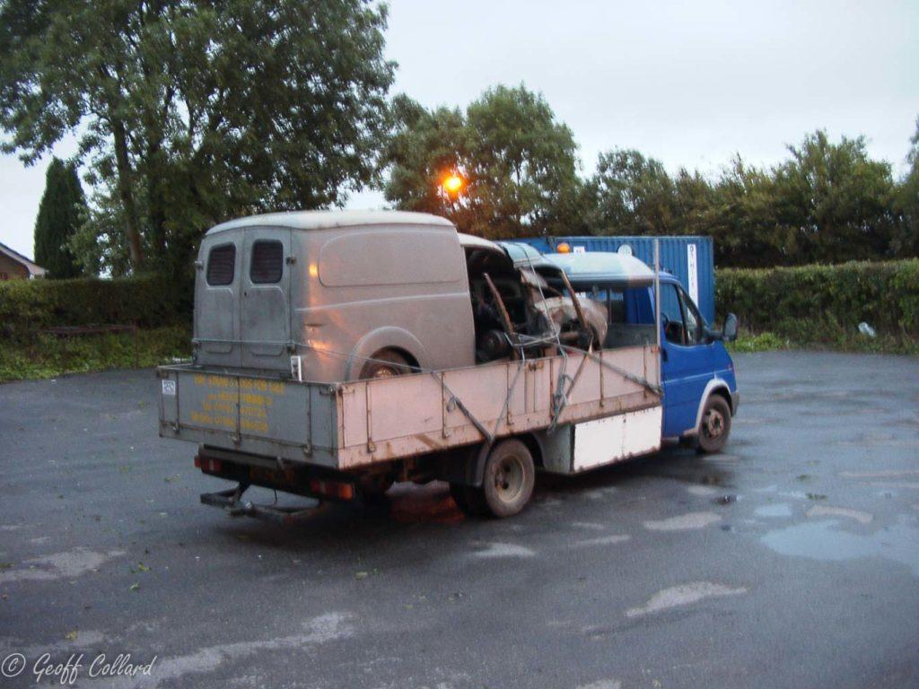 Van arrives 2003